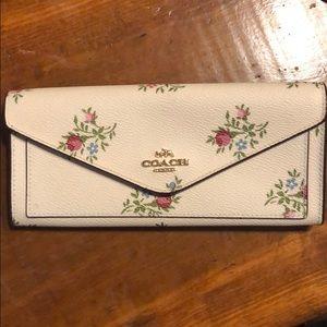 Authentic Floral Coach Wallet